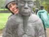 maria-and-a-statue-at-minh-mang-tomb