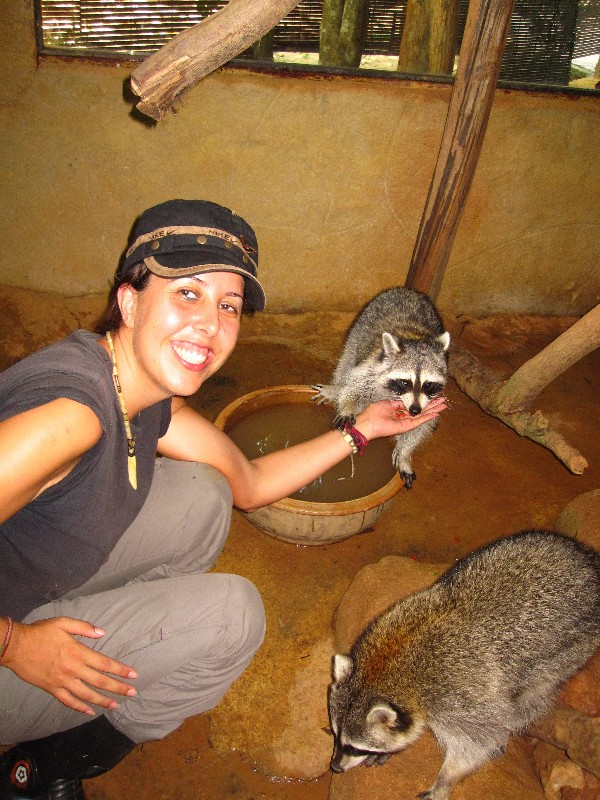 maria-feeding-a-raccoon