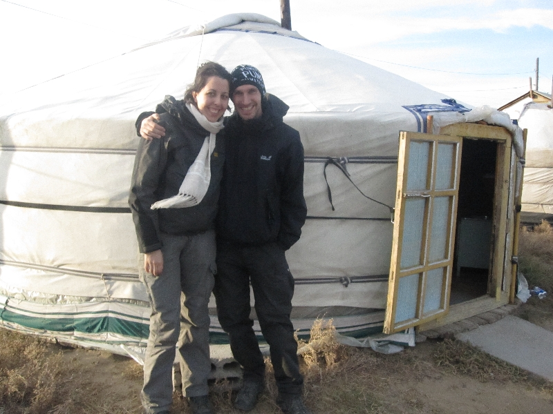 maria-and-bjoern-in-front-of-a-mongolian-ger