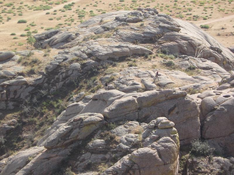 maria-climbing-some-rocks
