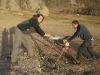 bjoern-and-maria-sawing-timber