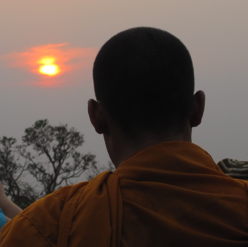 monk-in-the-sunset