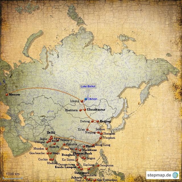 Weltreise Erfahrungesberichte Asien