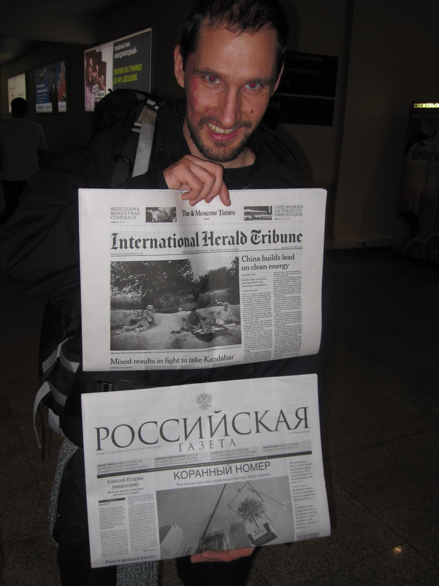 Zeitung aus Moskau