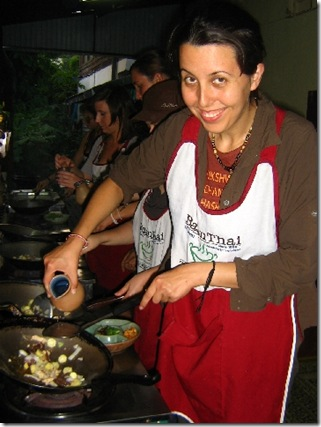 Maria in the cooking class
