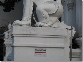 Monk-Chat at wat mahawan