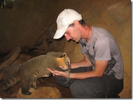 Bjoern with the south american coati