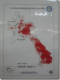 Bombing data of the US Airforce during the secret war, region Xieng Khouang & Ho Chi Minh Trail