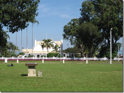 View at the government house in Darwin
