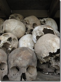 Choeung Ek, skulls of 8000 unknown victims