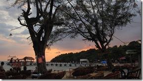 Sunset at lovely silent Sihanoukville