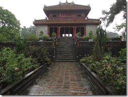 Garden in front of Minh Mang tomb