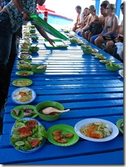 Seafood on our boat tour