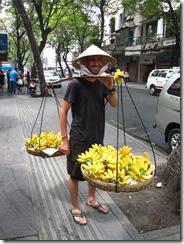 Vietnamese banana seller