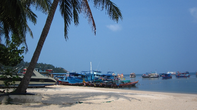 Mae hat Stand in Koh Tao, Thailand, das Taucher-Paradis