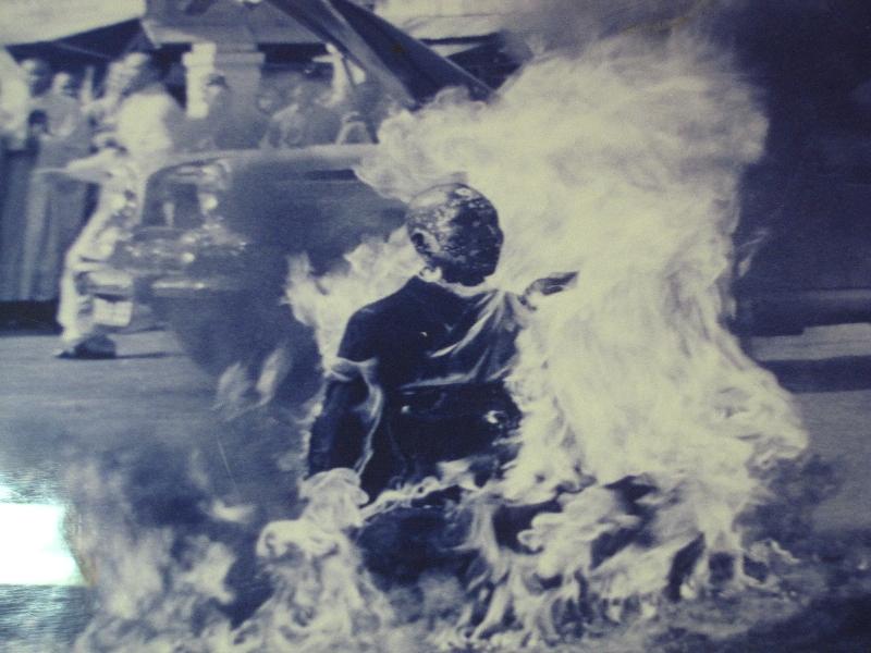 Die Selbst-Verbrennung von Thich Quang Duc während dem Vietnam-Krieg