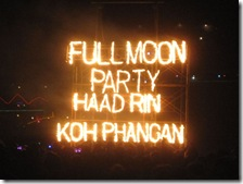 Full Moon Party am Strand von Haad Rin in Thailand