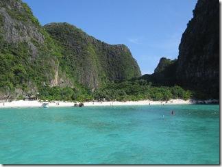 Sicht auf Thailands berühmtesten Strand - Maya Bay