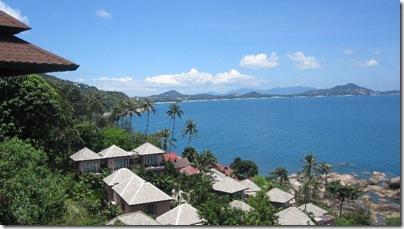 Sicht auf den weißen Strand Chaweng Noi