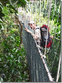 Björn on the Cannopy walkway in Taman Negare National parc