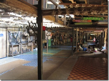 Iban Longhouse from inside
