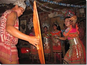 Ngajat dancing