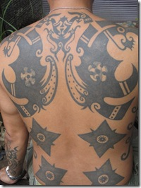 Tattoo from the Iban of our guesthouse