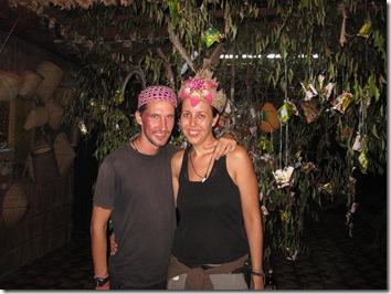 We unter the Gawai tree