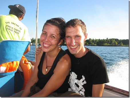 Auf dem Meer nach Mabul-Island