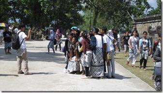 Indonesische Schüler quf Exkursion