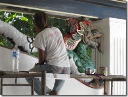 Indonesischer Maler in Jogjakarta