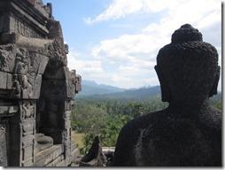 Sicht über Java von Borodudur