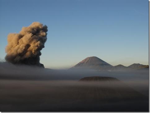 Aschewolke des Vulkans Bromo