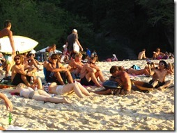Beaucoup d'australiens à Bali - Padang Padang beach