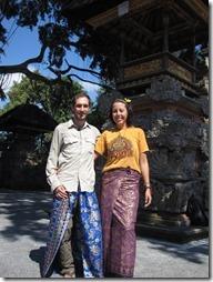 Sarongs pour le Galungan Festival à Ubud