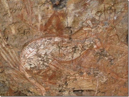 Aboriginal painting on Nourlangie Rock