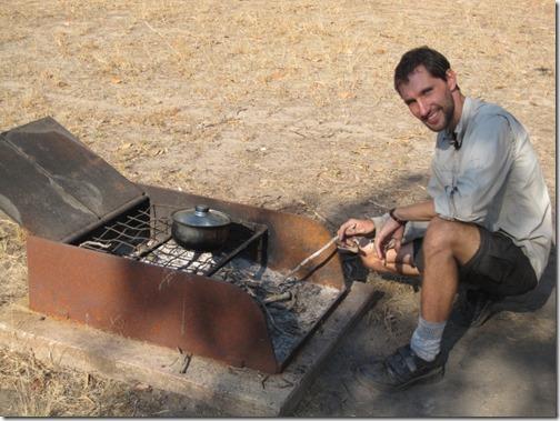 Campfire at Burdulba camping