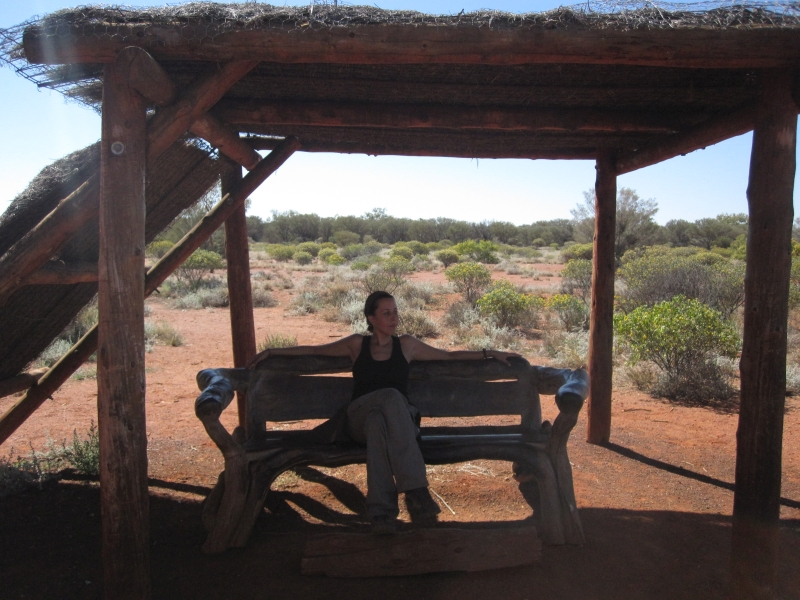 Resting during Uluru Base Walk
